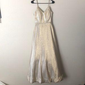 David's Bridal spaghetti strap prom dress